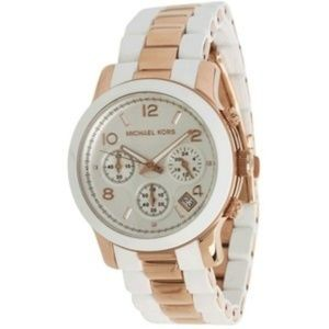 Michael Kors White Gold Silicone MK5464 Watch